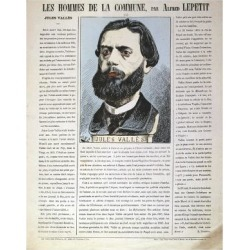 Giclee Painting: Lepetit's Jules Valles, French Journalist, Author and