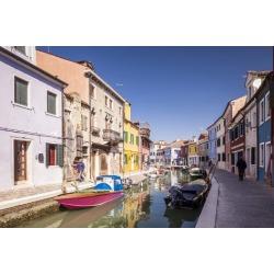 Poster: Elliott's Colorful Houses on Burano in Venice, UNESCO World He