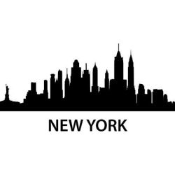 Art Print: unkreatives' Skyline New York, 24x18in. found on Bargain Bro Philippines from Allposters.com for $37.99