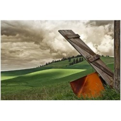 Giclee Painting: Winston's Landscape and Door, 16x22in.