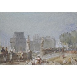 Giclee Painting: Turner's Château De Nantes, C. 1830 (Watercolour and