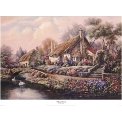 Art Print: Valente's Village Of Selworthy, 24x34in.
