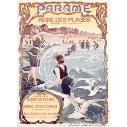 Giclee Painting: Trinquier-Trianon's Parame French, Beach Casino, 32x2