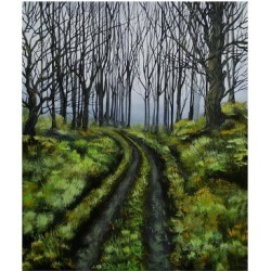Giclee Painting: Dirksen's Mysterious Unknown, 24x18in.