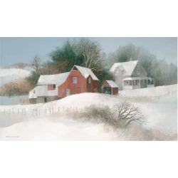 Giclee Painting: Swayhoover's Bayberry Farm, 14x22in.