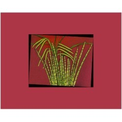 Giclee Painting: Hot pink tropical Grass, 44x56in.