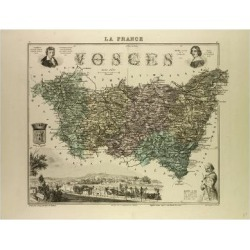 Giclee Painting: Map of Vosges 1896, France, 24x18in. found on Bargain Bro India from Allposters.com for $27.99