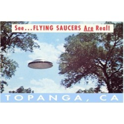 Art Print: Flying Saucers Are Real in Topanga, Los Angeles, California