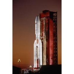 Poster: Ressmeyer's Commercial Titan III on Launch Pad, 24x16in.