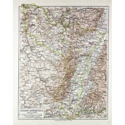 Giclee Painting: Map of Elsass-Lothringen 1899, 24x18in. found on Bargain Bro India from Allposters.com for $27.99