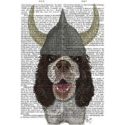 Art Print: Fab Funky's Springer Spaniel Viking, 24x18in.