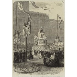 Giclee Painting: The Shakespeare Commemoration in London; Monument of
