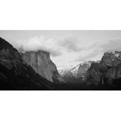 Poster: Clouds over Mountains, Yosemite National Park, California, USA