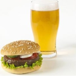 Art Print: Burger and Beer, 44x56in.