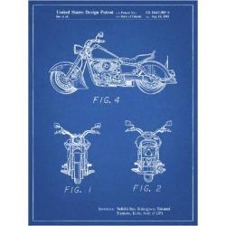 Giclee Painting: Cole Borders' PP901-Blueprint Kawasaki Motorcycle Pat