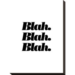 Stretched Canvas Print: Wilson's Blah Blah Blah, 15x11in. found on Bargain Bro Philippines from Allposters.com for $89.99