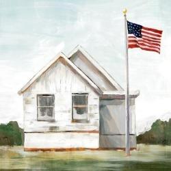Art Print: Art's American Flag, 12x12in.