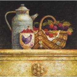 Art Print: Barjot's Berries and Whitewash, 7x7in.