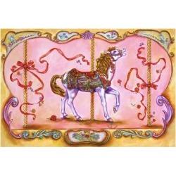 Giclee Painting: Mastrangelo's Carousel Horse, 24x16in.