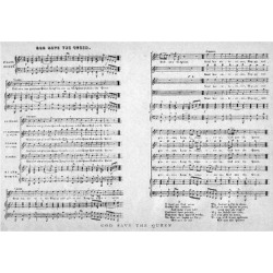 Giclee Painting: God Save the Queen, Sheet Music, 1900, 24x16in.