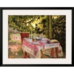 Framed Art Print: Bonnard's Table Set in a Garden, 31x38in.