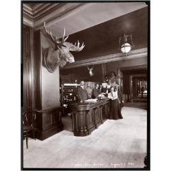 Giclee Painting: Byron Company's The Lobby and Registration Desk at th