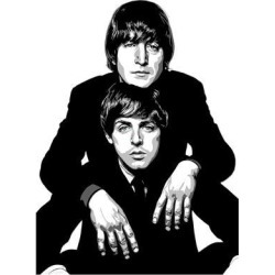 Giclee Painting: Gray's Lennon and McCartney, 12x9in.