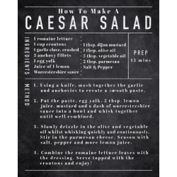 Giclee Painting: Frazier's Rustic Recipe - Caesar Salad, 20x16in.