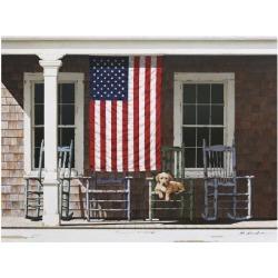 Art Print: Lu's American Flag, 20x26in.