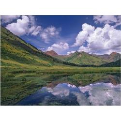 Art Print: Fitzharris' Ruby Range reflected in lake Gunnison National