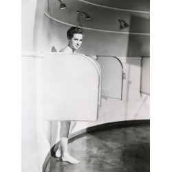 Photo Print: Woman Showering in Big Shower Room, 24x18in.