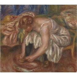 Giclee Painting: Renoir's Woman tying her Shoe, 1918 by Pierre Auguste found on Bargain Bro from Allposters.com for USD $30.77
