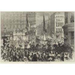 Giclee Painting: Friston's The Shah Leaving Charing-Cross Station for
