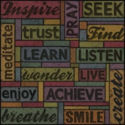 Giclee Painting: Secker's Art Print: Words of Inspiration Wall Art by