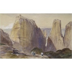 Giclee Painting: Lear's The Monastery of Meteora (Watercolour and Body