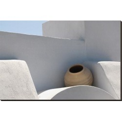 Stretched Canvas Print: Greek roof decoration, 29x44in.