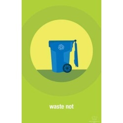 Poster: Waste Not, 17x11in.