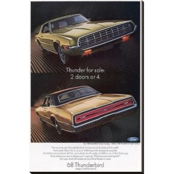 Stretched Canvas Print: 1968 Thunderbird 2 Doors or 4, 37x24in.