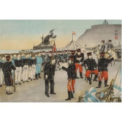 Art Print: Russian Surrender at Chemulpo, Korea, 24x16in. found on Bargain Bro India from Allposters.com for $38.99