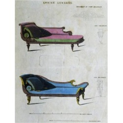Giclee Painting: Chaises Longues by George Smith from Cabinet Maker an