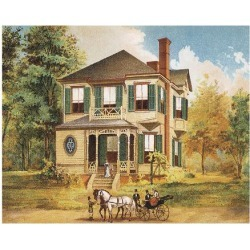 Art Print: Victorian House, No. 10, 12x16in.