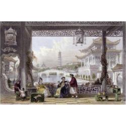 Art Print: Allom's Pavilion Gardens Mandarin, 24x16in. found on Bargain Bro India from Allposters.com for $38.99