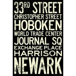 Art Print: Poster: Poster of New York City Subway, 36x24in.