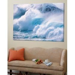 Loft Art: Heavy Water Waves Crashing in Sea, 54x72in.
