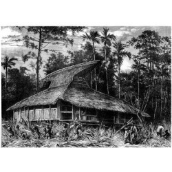 Giclee Painting: Mesples' Mosque on Ternate, Indonesia, 19th Century,