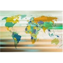 Giclee Painting: Art Print: Modern World Map Wall Art, 12x16in. found on Bargain Bro from Allposters.com for USD $19.37