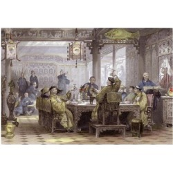 Art Print: Allom's Mandarin Dinner Party, 24x16in. found on Bargain Bro India from Allposters.com for $38.99
