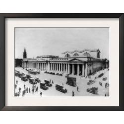 Framed Art Print: Lantern Press' Pennsylvania Station New York City, N