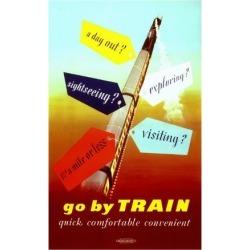 Giclee Painting: Ferguson's Art Print: Go by Train, Quick Art Print by