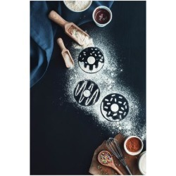 Giclee Painting: Belenko's Baking Recipe: Donuts, 26x18in.